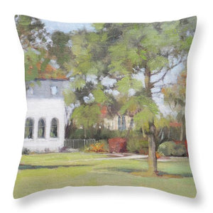 Phillippi Creek Mansion And Rose Garden - Throw Pillow