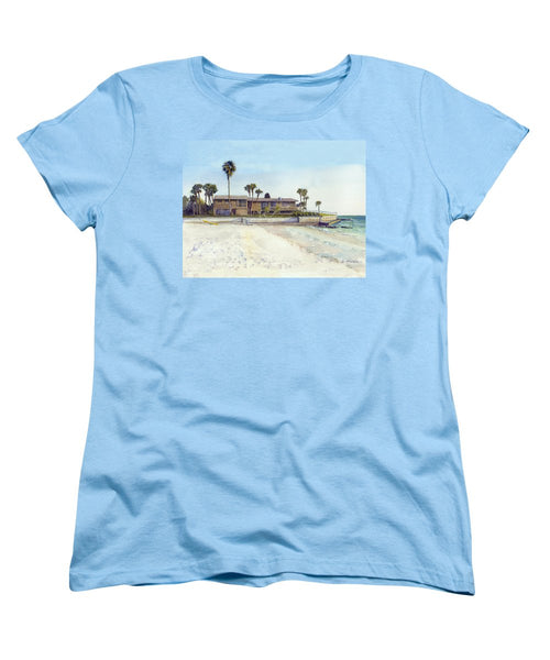 Point Of Rocks With Yellow Kayak - Women's T-Shirt (Standard Fit)