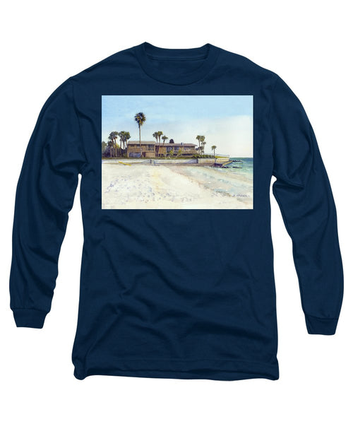 Point Of Rocks With Yellow Kayak - Long Sleeve T-Shirt