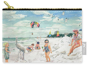 Sandcastles On Siesta Key Public Beach - Carry-All Pouch