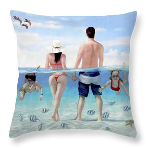 Siesta Beach Resort And Spa Mural - Throw Pillow
