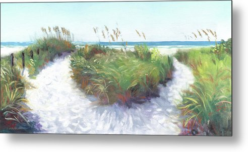 Crescent Beach Path, Access 12, Siesta Key - Wide - Metal Print