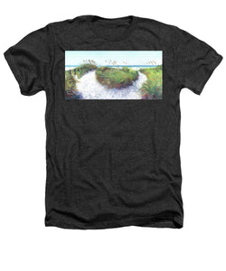 Crescent Beach Path, Access 12, Siesta Key - Wide - Heathers T-Shirt
