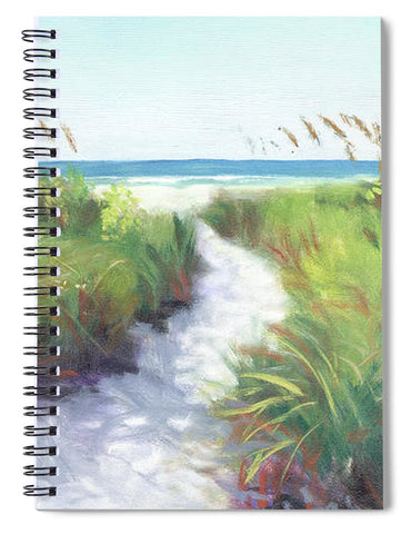Crescent Beach Path, Access 12, Siesta Key - Wide - Spiral Notebook