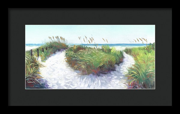 Crescent Beach Path, Access 12, Siesta Key - Wide - Framed Print