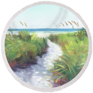 Crescent Beach Path, Access 12, Siesta Key - Wide - Round Beach Towel