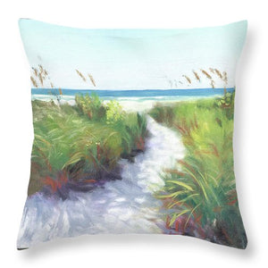 Crescent Beach Path, Access 12, Siesta Key - Wide - Throw Pillow