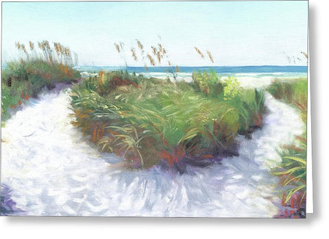Crescent Beach Path, Access 12, Siesta Key - Wide - Greeting Card