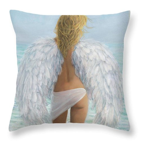 Siesta Key Beach Angel - Throw Pillow