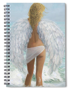 Siesta Key Beach Angel - Spiral Notebook
