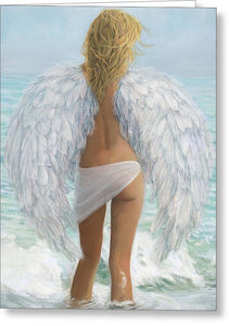 Siesta Key Beach Angel - Greeting Card