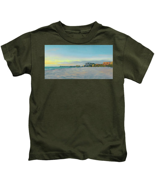Siesta Key Beach At Dusk - Kids T-Shirt