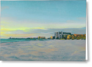 Siesta Key Beach At Dusk - Greeting Card
