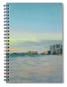 Siesta Key Beach At Dusk - Spiral Notebook