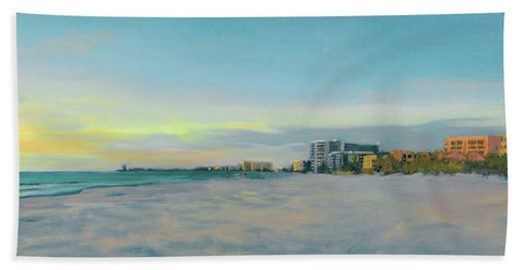 Siesta Key Beach At Dusk - Bath Towel
