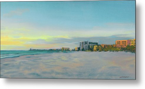 Siesta Key Beach At Dusk - Metal Print