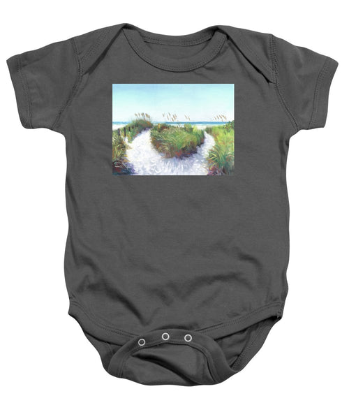 Crescent Beach Path Access 12, Siesta Key - Baby Onesie