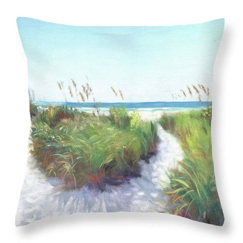 Crescent Beach Path Access 12, Siesta Key - Throw Pillow