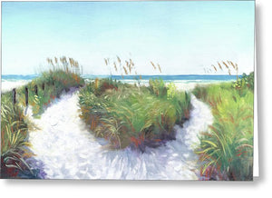 Crescent Beach Path Access 12, Siesta Key - Greeting Card