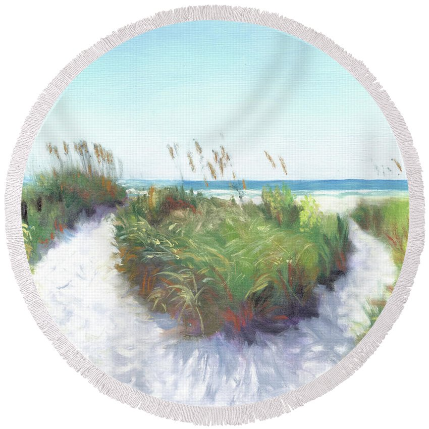 Crescent Beach Path Access 12, Siesta Key - Round Beach Towel