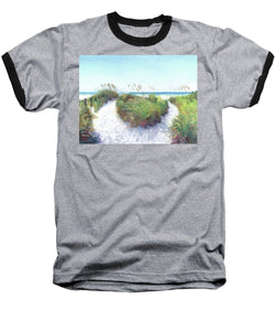 Crescent Beach Path Access 12, Siesta Key - Baseball T-Shirt