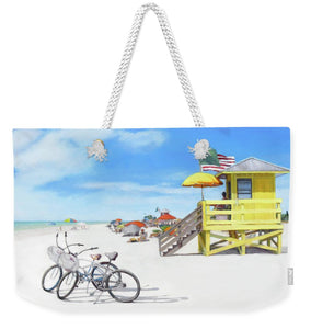 Siesta Key Beach Yellow Lifeguard Station - Weekender Tote Bag