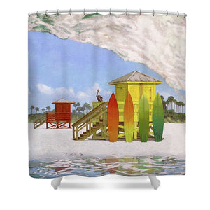 Siesta Key Curl - Shower Curtain