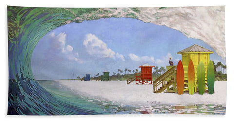 Siesta Key Curl - Beach Towel