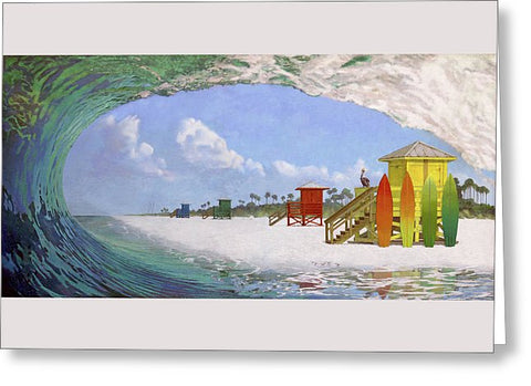 Siesta Key Curl - Greeting Card