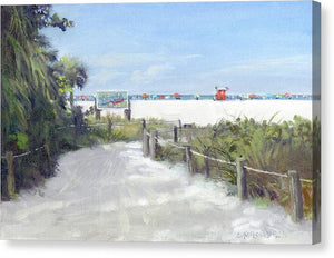Siesta Key Public Beach Access - Canvas Print