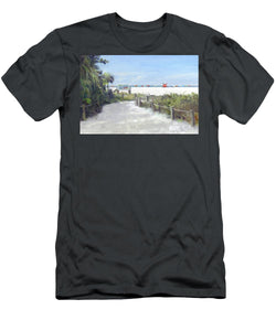Siesta Key Public Beach Access - Men's T-Shirt (Athletic Fit)