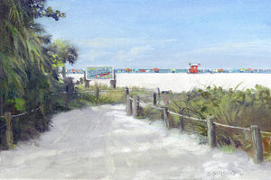 Siesta Key Public Beach Access Art Print