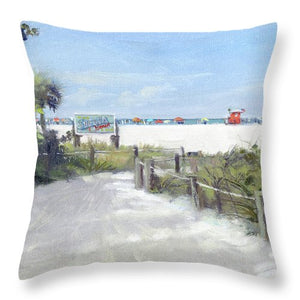 Siesta Key Public Beach Access - Throw Pillow