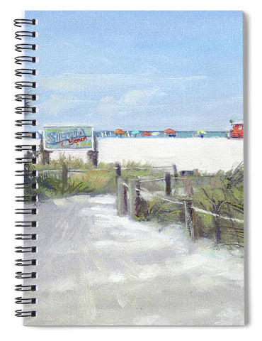 Siesta Key Public Beach Access - Spiral Notebook