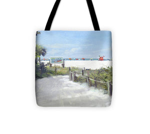 Siesta Key Public Beach Access - Tote Bag