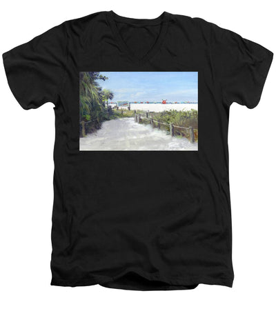 Siesta Key Public Beach Access - Men's V-Neck T-Shirt
