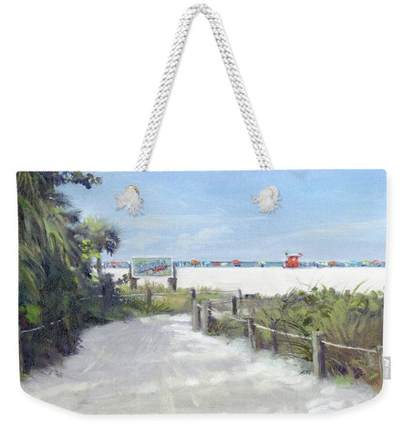 Siesta Key Public Beach Access - Weekender Tote Bag