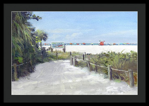 Siesta Key Public Beach Access - Framed Print