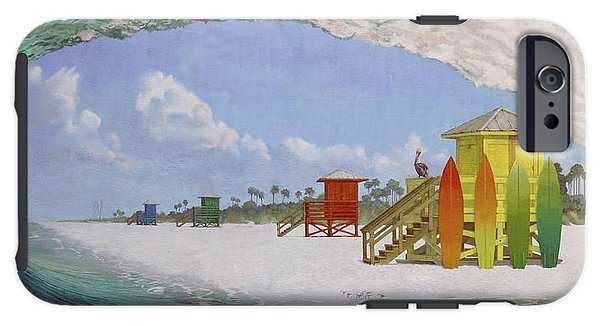 Siesta Key Public Beach Curl - Phone Case