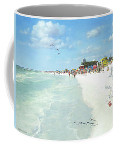 Siesta Key Public Beach With Sandcastle - Mug