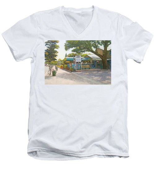 Skob, Siesta Key Oyster Bar - Men's V-Neck T-Shirt