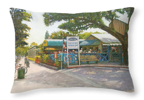 Skob, Siesta Key Oyster Bar - Throw Pillow