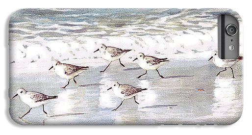 Snowy Plover Sandpipers On Siesta Key Beach - Phone Case