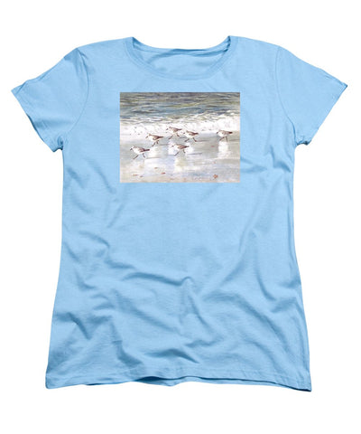 Snowy Plover Sandpipers On Siesta Key Beach - Women's T-Shirt (Standard Fit)