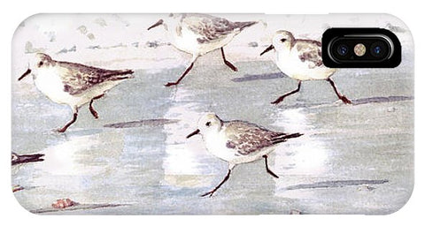 Snowy Plover Sandpipers On Siesta Key Beach, Wide-narrow - Phone Case