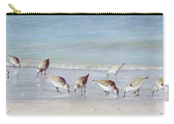 Breakfast On The Beach, Snowy Plover Sandpipers, Siesta Key - Carry-All Pouch