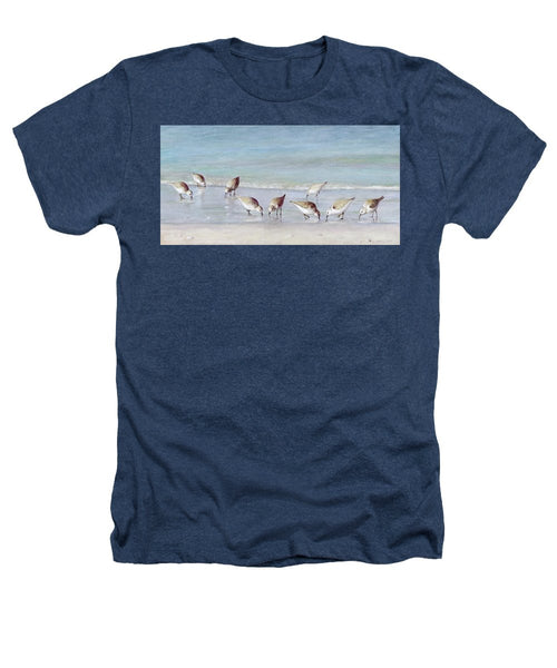 Breakfast On The Beach, Snowy Plover Sandpipers, Siesta Key - Heathers T-Shirt
