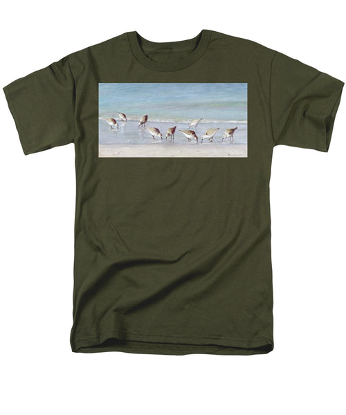 Breakfast On The Beach, Snowy Plover Sandpipers, Siesta Key - Men's T-Shirt  (Regular Fit)
