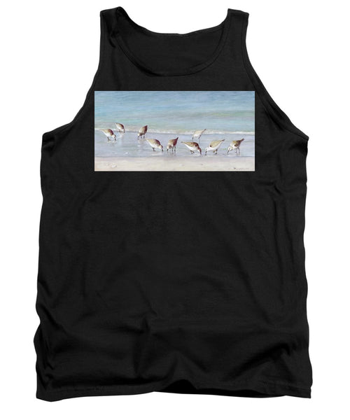 Breakfast On The Beach, Snowy Plover Sandpipers, Siesta Key - Tank Top