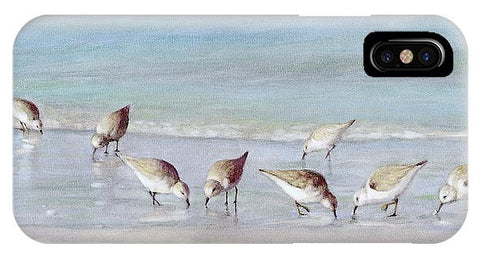Breakfast On The Beach, Snowy Plover Sandpipers, Siesta Key - Phone Case